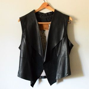 Emu Leather and Suede Vest